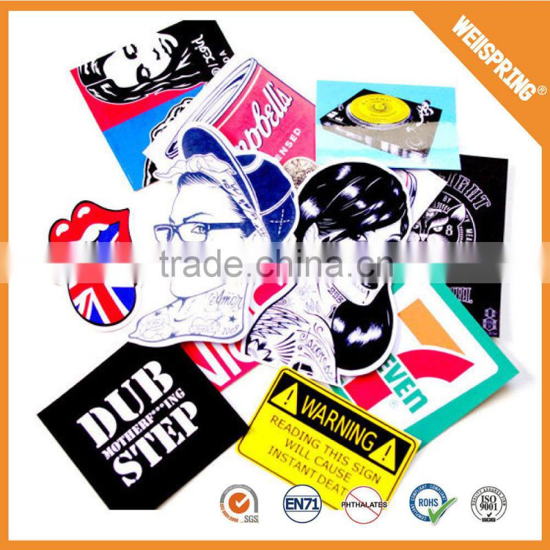 Popular lable sticker 3d cartoon custom sticker wholesale