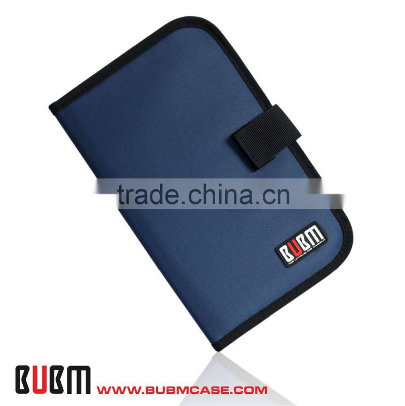 Fashion Dark Blue BUBM Slim 32 Capacity CD Case CD Box DVD Case CD Storage Car Disc Case