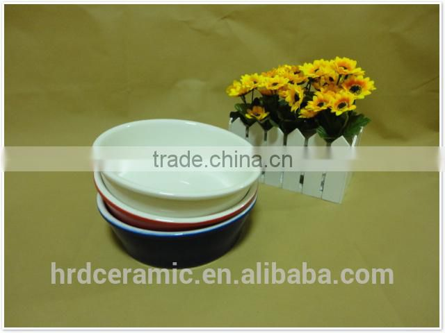 food safe and microwave safe round shape ceramic bowl