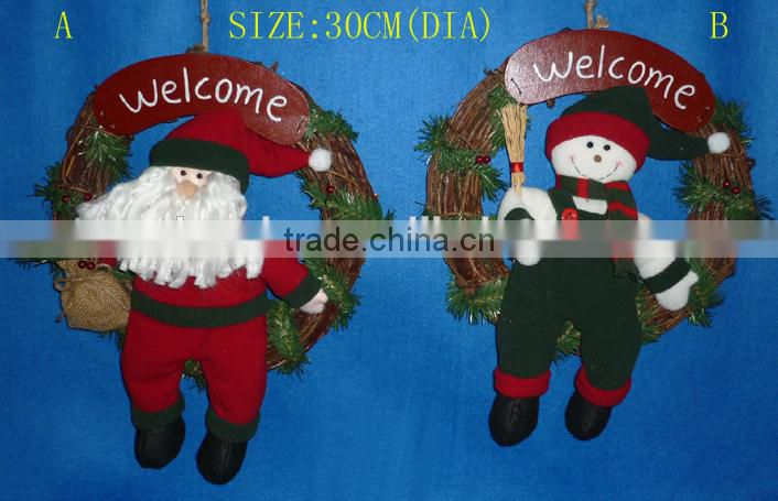 holiday items/ Christmas gift polyester rattan loop/vine loop/ Christmas decoration