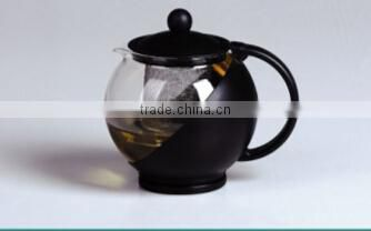 disposable borosilicate glass flower/tea pot with warmer and filter/flower pot coffee mug