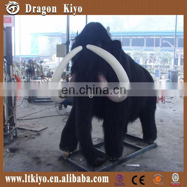 2016 moving simulation animals life size mammoth simulation elephant model for theme park