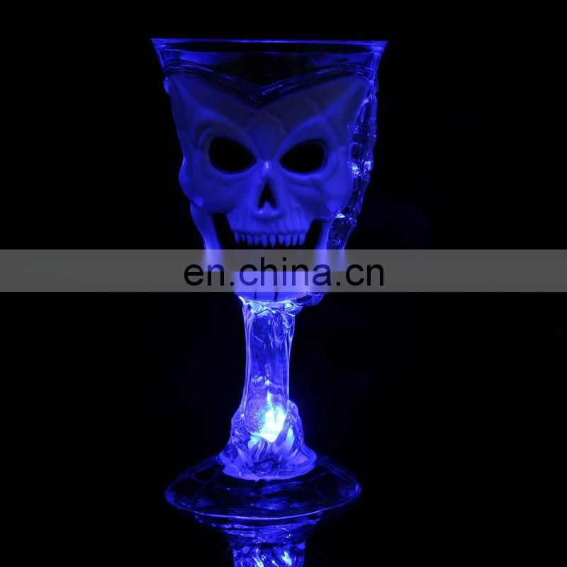 halloween scary party skull wine water drinking cup flash LED light cup