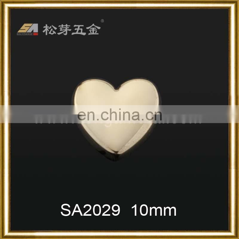 nice fashion loving heart design accessories metal screw rivet