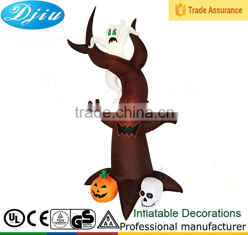 DJ-208 Inflatable Airblown Halloween Tree with Ghosts and Pumpkin Outdoor Decor