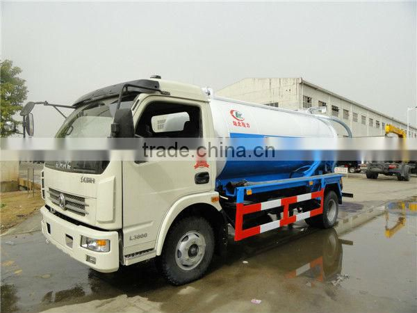 4000-6000L vacuum sewer sucking truck