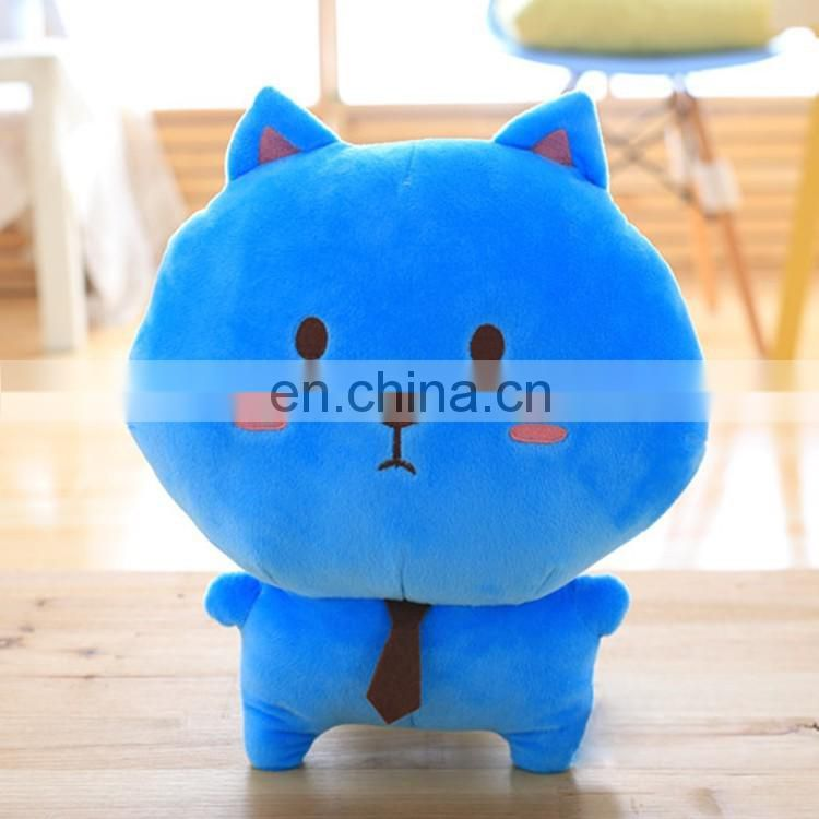 Customized realistic plush cat toy with various colors