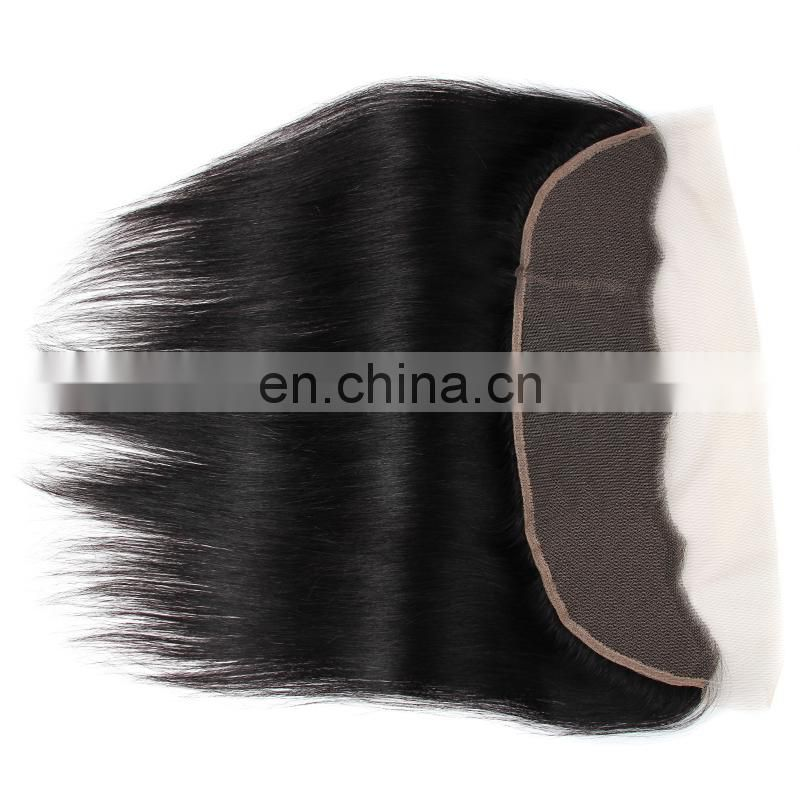 13x4 size human hair lace frontal hair closure with straight texture