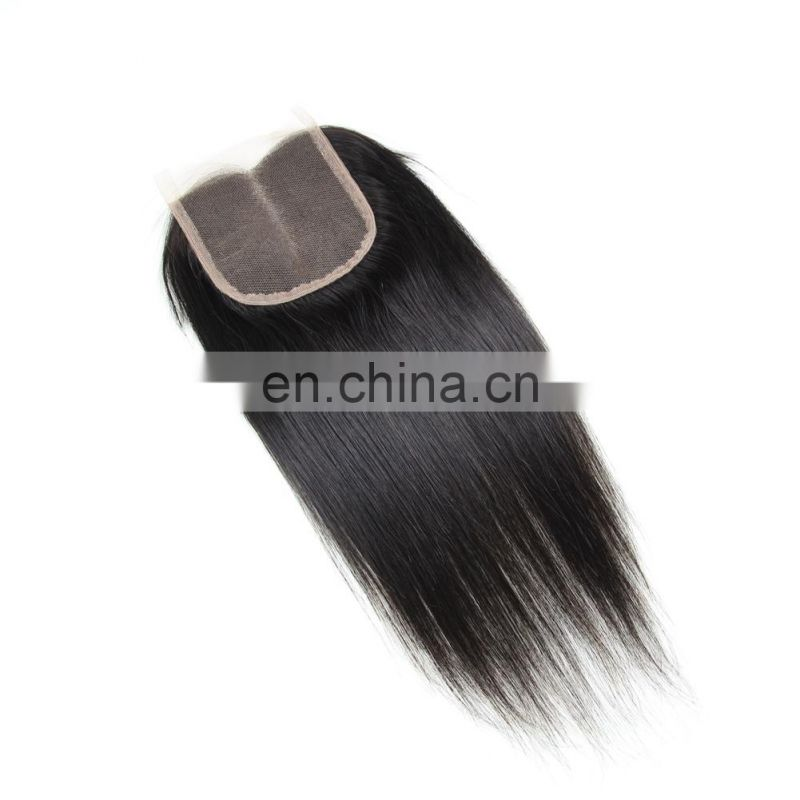 Qingdao factory 100% MALAYSIAN human virgin 9A hair FREE PART lace closure in silky straight cuticle aligned hair