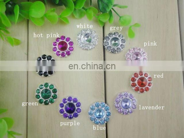 22mm Alloy Metal ButtonsColor Gems Metal Button Spark Rhinestone Buttons Decoration Accessory