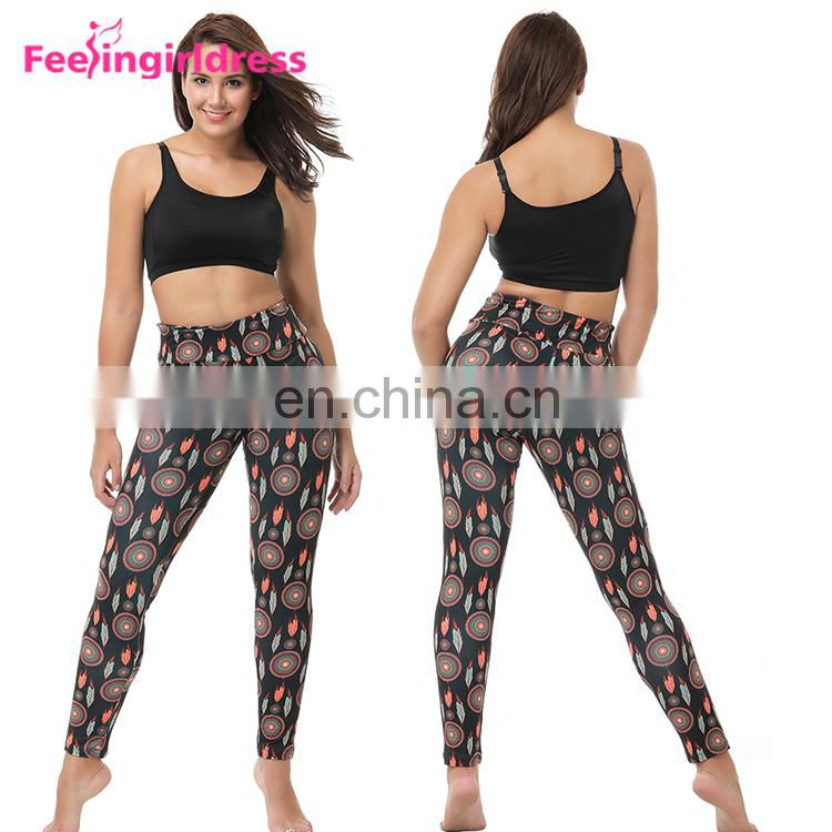Hot Sale New Mix Custom Oem Indian High Waist Super Soft Printed Leggings