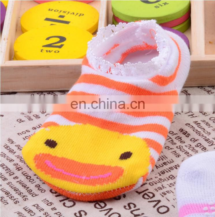 cotton toddler socks with anti slip