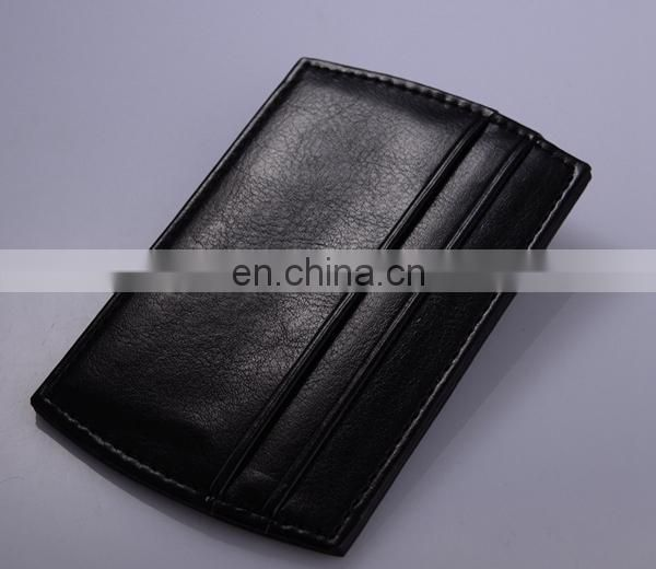 CUSTOM CARD WALLET WHOLESALE LEATHER DOLLAR MONEY CLIP