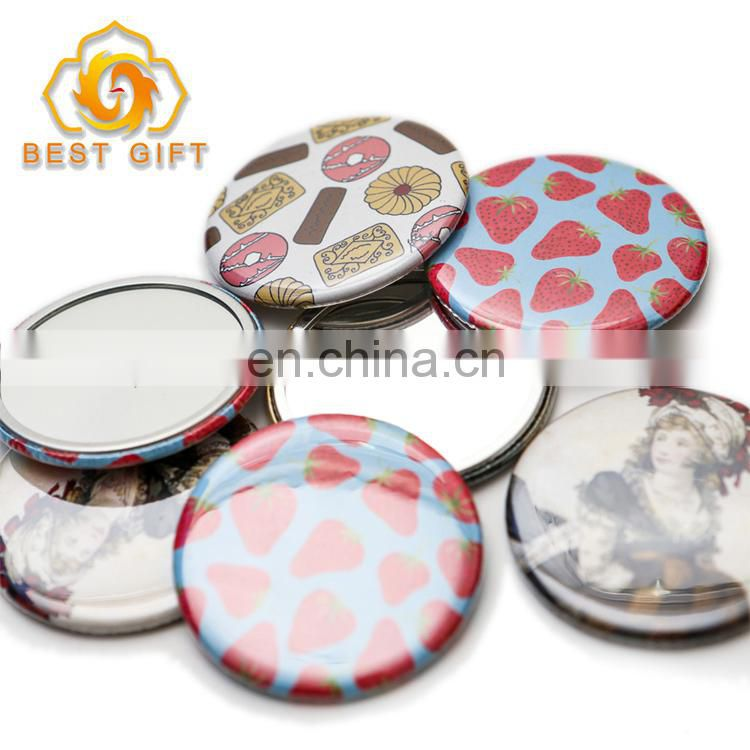 Design Your Own Logo Tinplate Pocket Mirror