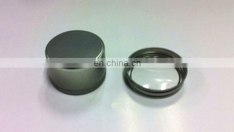 Plain Mini Round Screw Lid Tea Tin Box with a PET Window