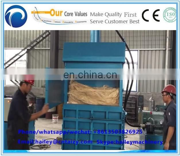 PET bottle/plastic film Vertical Baler for waste paper/Hydraulic