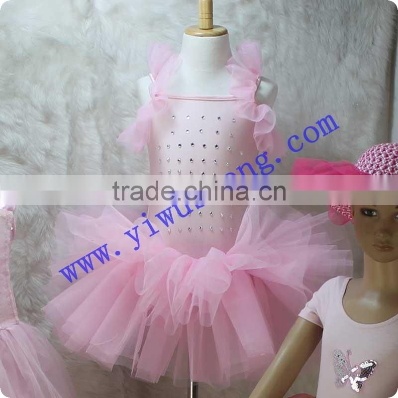 Super hot sale dance costumes pink ballet tutu for kids professional ballet tutu dress