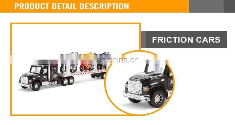 Hot Sale Friction Drag Head Car With Three Motorcycle Three F1 Car