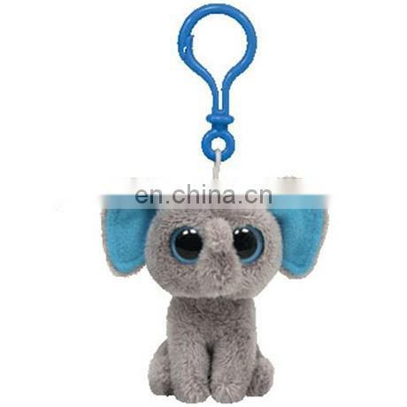 Ty Beanie Boos baby plush toy the Elephant key buckle Pendant