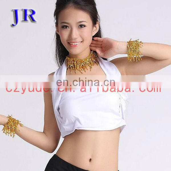 Yellow bra top Belly dance tops hot belly dance tops S-3041#