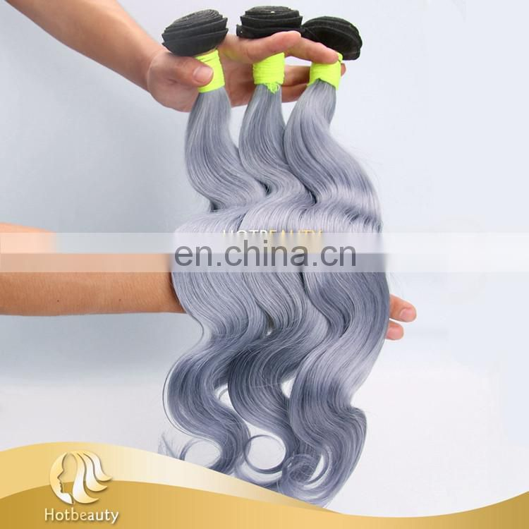 New arrival grey color 100% virgin brazilian human hair Body Wave, best selling products 2017 in USA