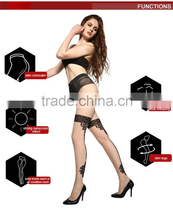 Wholesale Adults Stretchable Sexy Hot Sale Thigh High Girls Ladies Leggings Sex Silk Stockings