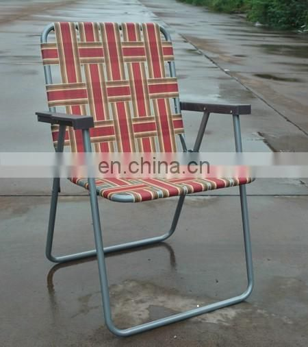 Beach and Camping & Classic Vintage Lawn Sturdy Folding Web Steel Chair