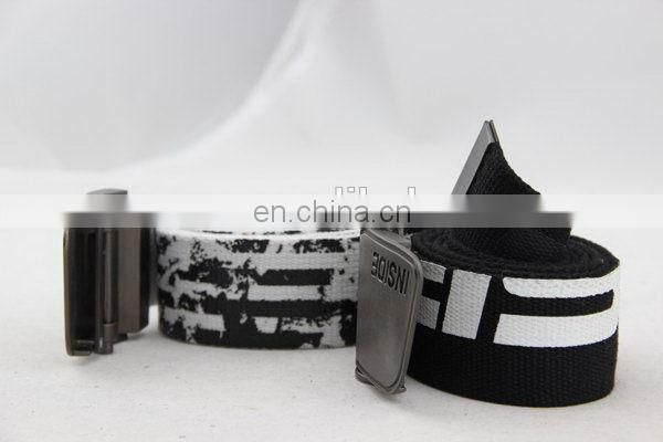 Canvas Belt With Metal Buckle Wolf Belt Buckle