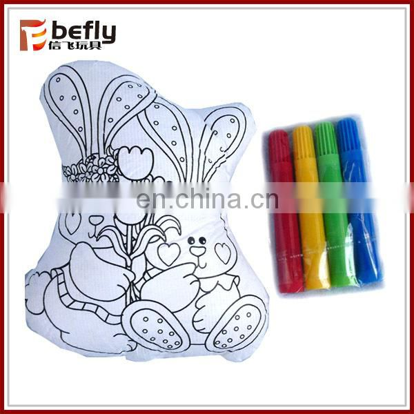 Seahorse shape colorful painting toy with pen