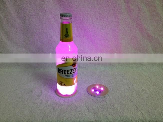 Mini Plastic LED Glow Bottle Sticker Lights For Bar