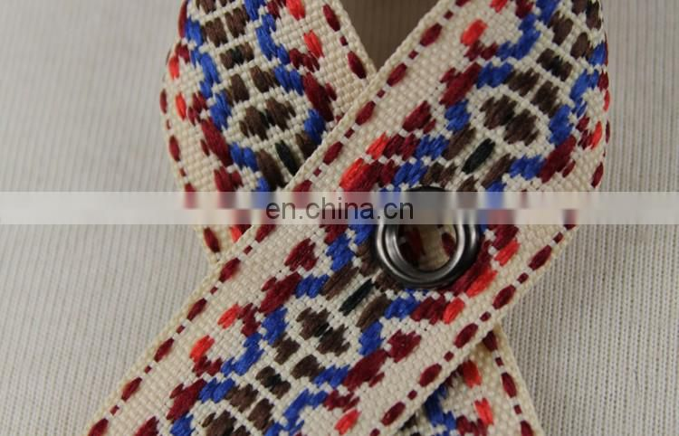 Hot design jacquard ethnic eyelet tape wholesale
