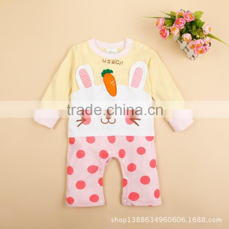 wholesale fairy cartoon toddlers baby romper climbing clothes print animal bear dogs lions rabbits & pandas AG-LA0021