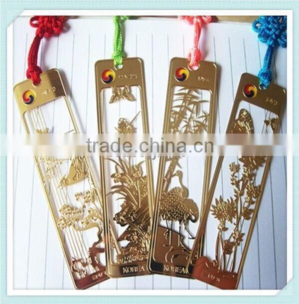 A clover (lucky grass), the maple leaves, butterflies, mini cute beautiful metal bookmark