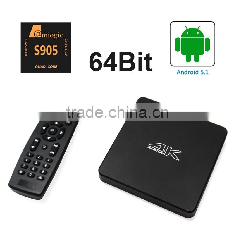 android 5.1 quad core tv box atv ii review S905 xbmc android tv box fully loaded 4K H.265 hardware decoding media player