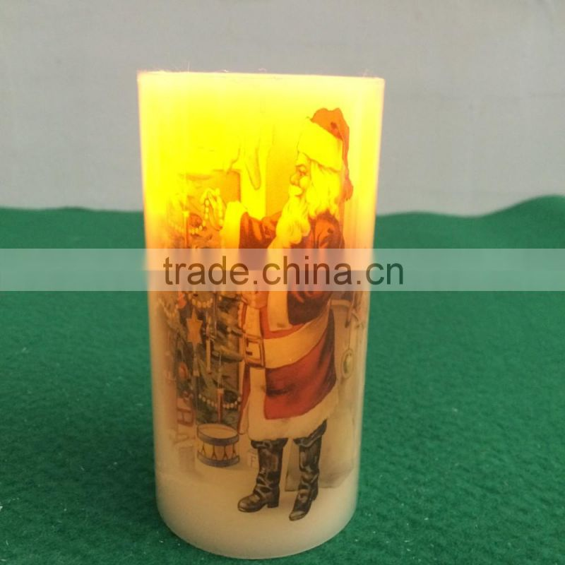 flameless led candles 3''x5'' christmas flickering real wax led candle light decoratice christmas led wax candles