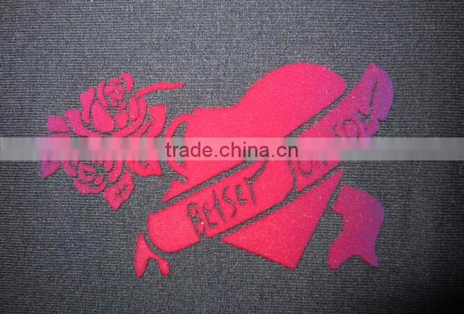 3D Flocking Heat Pressed Transfer For Garment