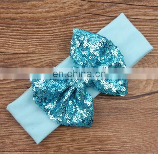 Sequin Bow Headband Infant Knotted Headwraps Toddler Headbands Hair Bows For Baby Accessory