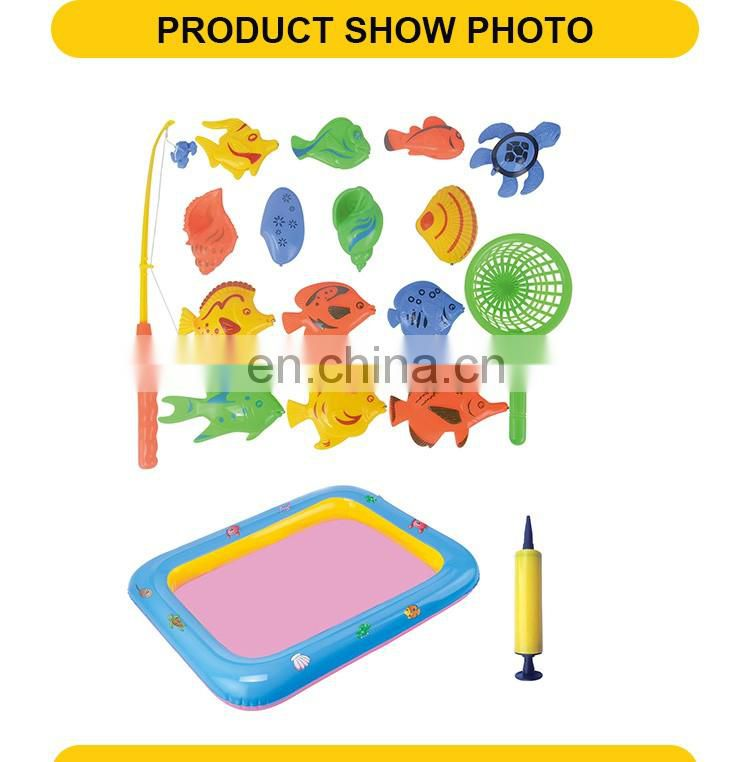 Orange, Blue, Green, Yellow 4 Color Mixed Magnetic Fishing Game Machine