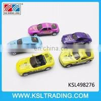 6PCS 1:64 cartoon free wheel mini metal toy car for kids