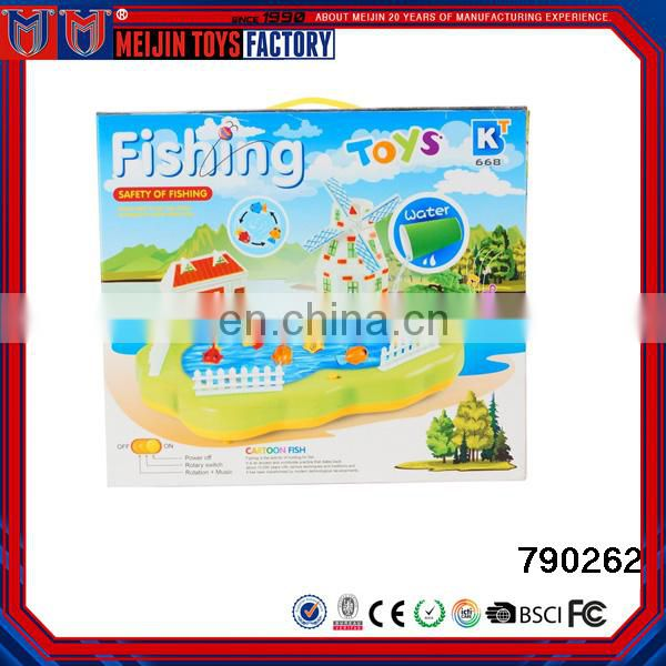 2017 Newest colorful plastic battery operated fishing toy for kid