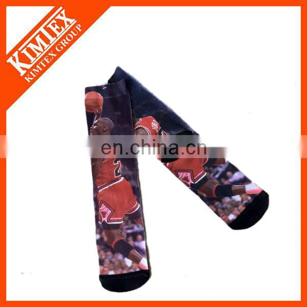 Wholesale polyester 360 all over digital printing sublimation socks