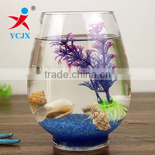 Home Decoration Clear Round Glass Fish Tank / Fish Bowl wholesale