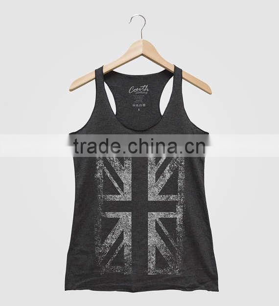 2017Fashion Custom Printing Wholesale Cotton Gym Women Tank Tops Singlet