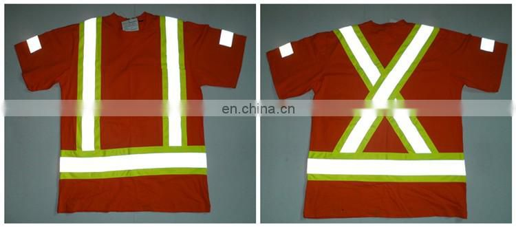 100 Cotton Orange Polo Safety T Shirt