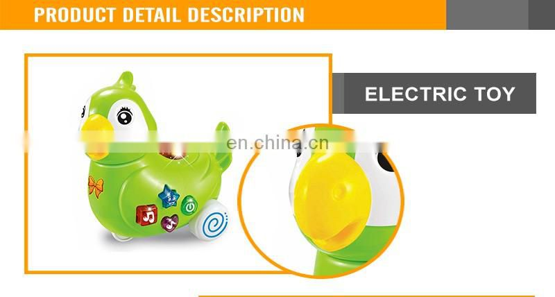 Battery Operate Projection Cartoon Parrot With Light And Music Plastic Toy Animal