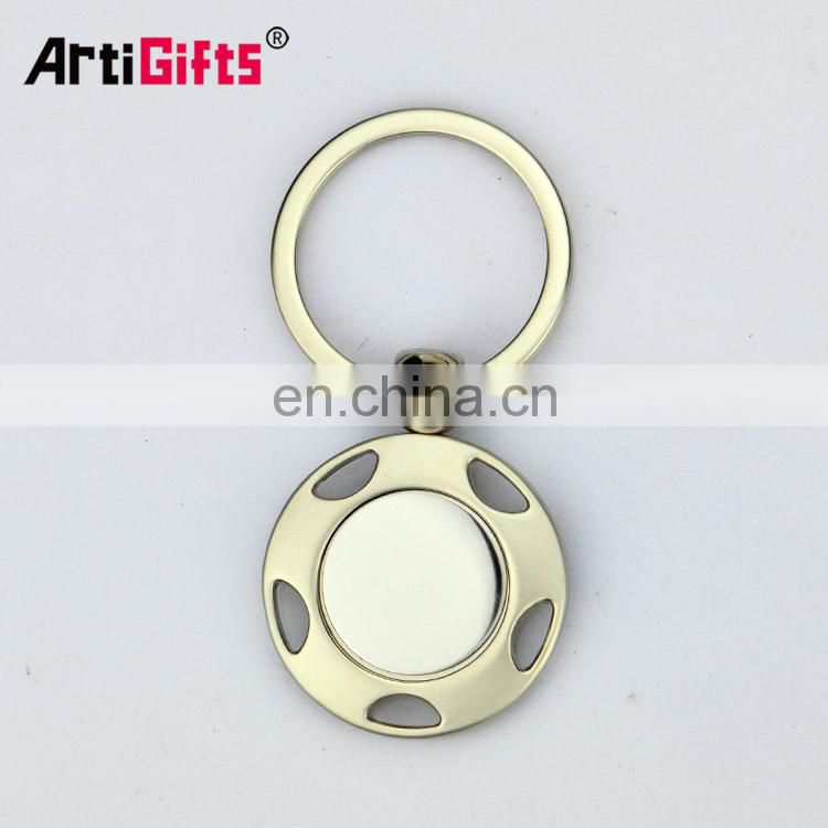 fashionable patterns custom logo leather with metal key chain