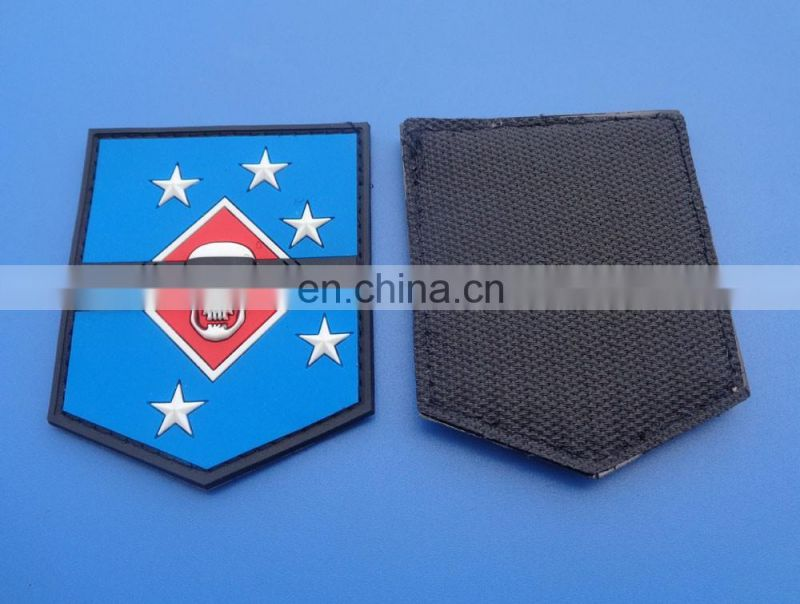 customized soft pvc patch embossed company brand garment pvc patches