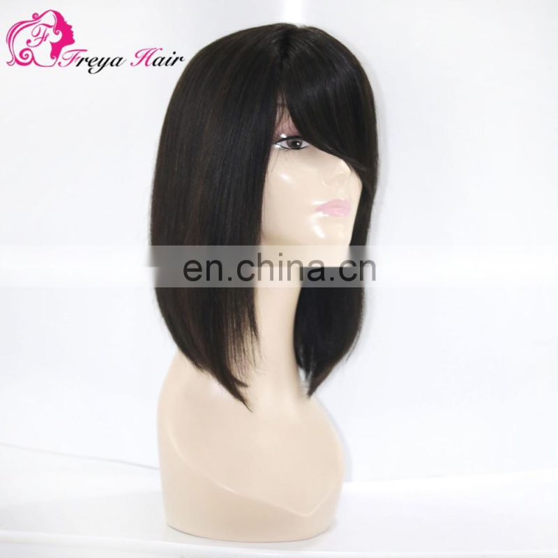 Freya hair 100% brazilian human virgin remy hair BOBO front lace wig for women