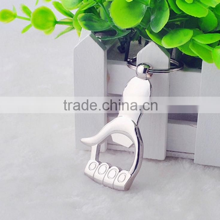 Household Gifts Beer Bottle Can Opener Alloy Hangings Ring Keychain Image