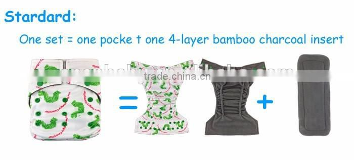 ananbaby magic tape reusable baby bamboo charcoal cloth diaper manufactuers